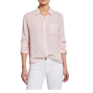 "Rails ""Charli"" striped shirt linen long sleeve M"